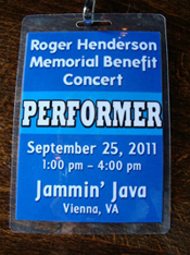 Concert Performer Badge - photo by Elaine Mellen